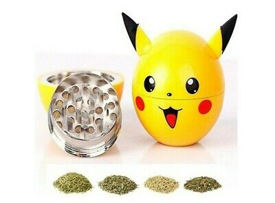 Pokemon Herb Spice Grinder Pikachu 3 Piece Tobacco Smoking Poke ball Grinder
