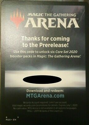 MTG Magic Arena code from Core Set 2020 prerelease M20 (digital delivery)