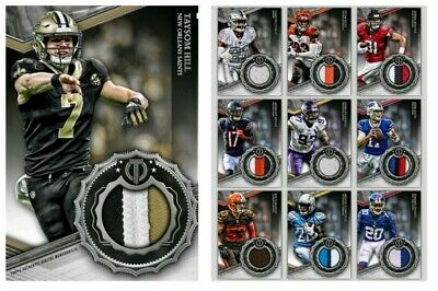 10 Card Set-Tribute Silver Relic-Drop 3-Topps Huddle 19 Digital