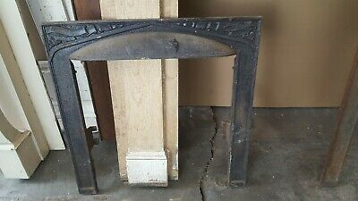 Antique cast iron fireplace insert