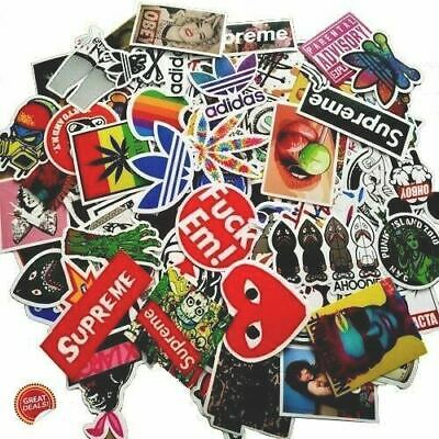 100 Sticker Pack  for skateboard, laptop, car,weed, supreme, bape