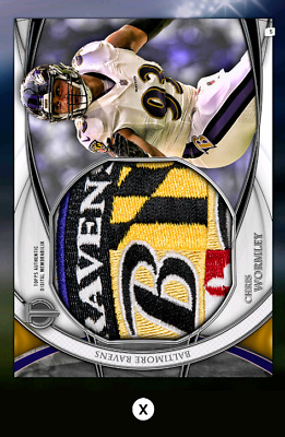 Chris Wormley-Tribute Drop 3-Silver Jumbo Relic-Topps Huddle 19 Digital