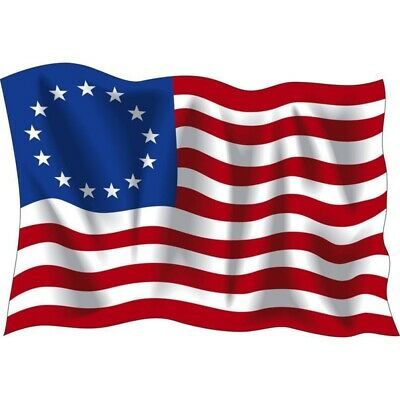 Betsy Ross Flag 13 Star USA Historic US Flag History Polyester 3*5 ft  USA Stock