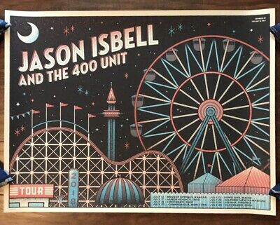 Jason Isbell & The 400 Unit 2018 Tour Official Concert Poster S/N Half & Half