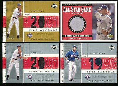 2001-2002 Upper Deck Alex Rodriguez Game Used Jerseys 16/99 4 Count Lot~BR