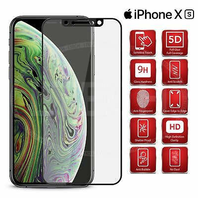 For Apple iPhone XS / A1920 - Full Glue Tempered Glass Screen Protector [Black]