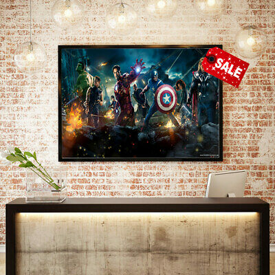 Canvas Hd Print Oil Painting The Avengers Movie Home Wall Art Decoration 16x24