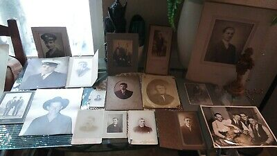 Nice Lot Of 17 Various Antique & Vintage Mixed Photos Of Men