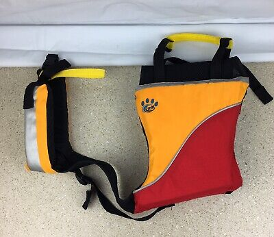MTI Underdog Dog Life Vest Life Preserver Size Large Yellow Red Bright 60-90 Lbs
