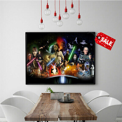 HD Oil Painting Modern Art Star Wars characters Print Room Decor on Canvas 16x24