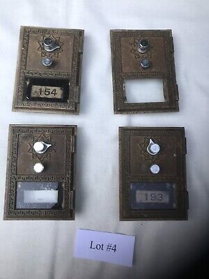 4 USPS Vintage Combination PO Box doors from post office Lot#4