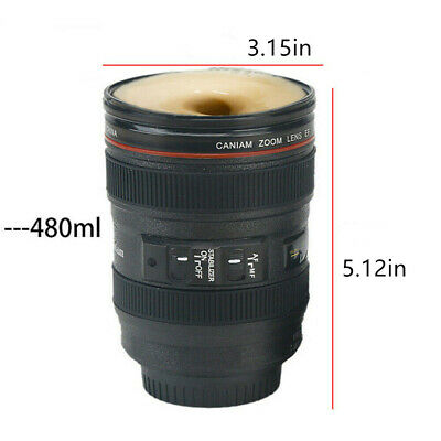 Caniam Camera Lens Cup EF 24-105mm Macro Thermos Travel Tea Coffee Mug Gift