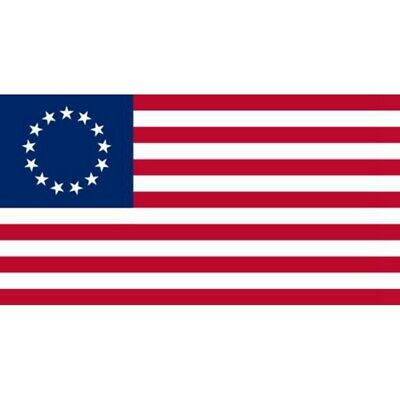 Betsy Ross 3x5 ft Poly Banner Flag- 13 Stars 1776 American Colonial - USA SELLER