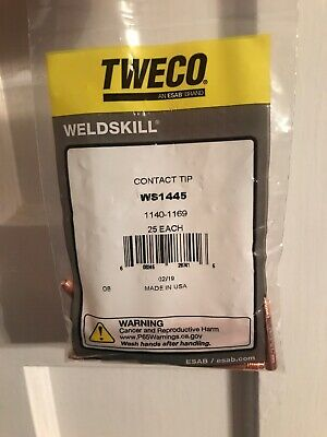 .040 CONTACT TIPS PKG//25 1140-1168 WS14-40 Tweco Weldskill