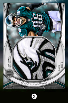 Zach Ertz-Tribute Drop 3 Silver Jumbo Relic-Topps Huddle 19 Digital
