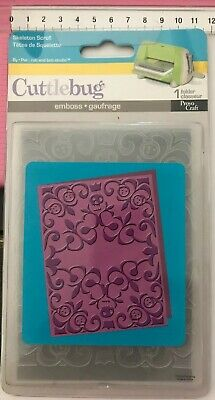 Embossing Folder! 1Pc Cuttlebug Provo Craft 'Skeleton Scroll' Sizzix Compatible