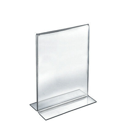 Acrylic Clear 2 Sided Sign Holder 8.5W x 14H Inches - Lot of 10