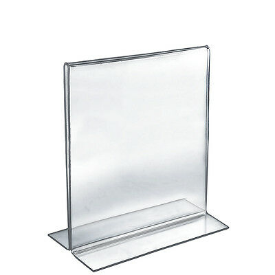 Acrylic Double-Foot Two Sided Sign Holder 17W x 11H Inches - Box of 10