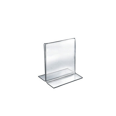 Double-Foot Two Sided Sign Holder 5.5W x 7H Inches - Case of 10