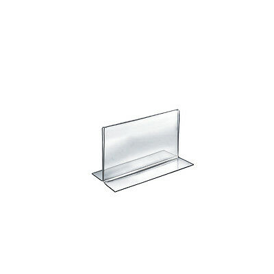 Acrylic Double-Foot Two Sided Sign Holder 6W x 4H Inches - Case of 10