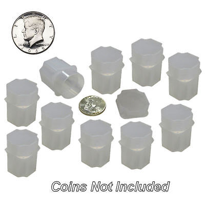 Half Dollar Square Coin Tubes by Guardhouse, 30.6mm, 10 pack