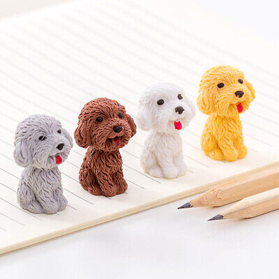 1pcs/lot Cartoon Cute Dogs Rubber Erasers Art School Supplies Offices Stationery