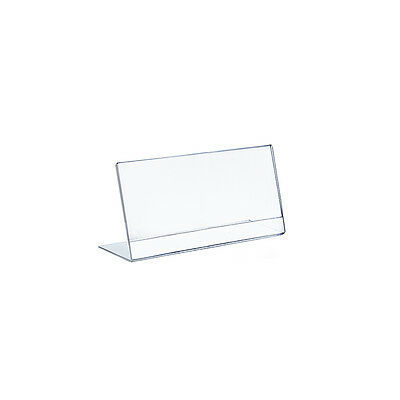 Acrylic Clear L-Shaped Sign Holder 8.5W x 5.5H Inches - Case of 10