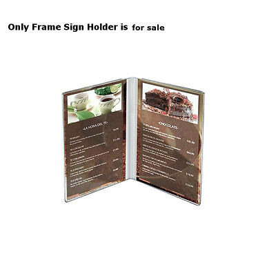 Clear Acrylic Dual Frame Sign Holders 5W x 7H Inches - Case of 10