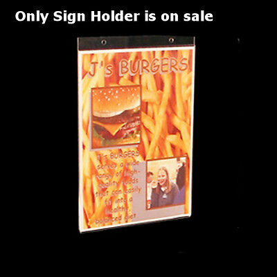 Acrylic Wallmount Sign Holder 7W x 11H Inches- Count of 10