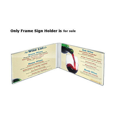 Clear Acrylic Dual Frame Sign Holders 7W x 5H Inches - Lot of 10