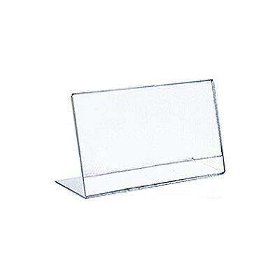 L-Shape Horizontal Slanted Acrylic Sign Holder 11W x 8.5H Inches - Case of 10