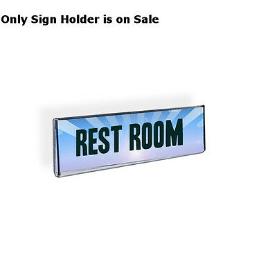 Acrylic Clear Wallmount Sign Holder 5.5W x 2.5H Inches w/Magnetic Tape-Lot of 10