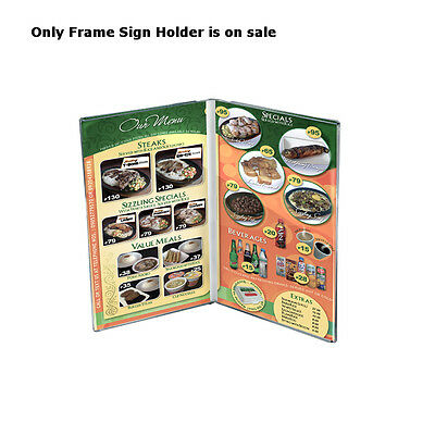 Clear Acrylic Dual Frame Sign Holders 5.5W x 8.5H Inches - Pack of 10