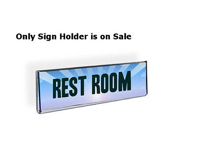 Acrylic Wall Mount Sign Holder 5.5W x 2.5H Inches with Adhesive Tape - Lot of 10