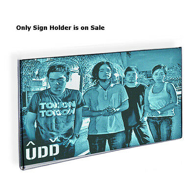 Acrylic Clear Wall Mount Sign Holder 17W x 11H Inches w/Adhesive Tape -Lot of 10