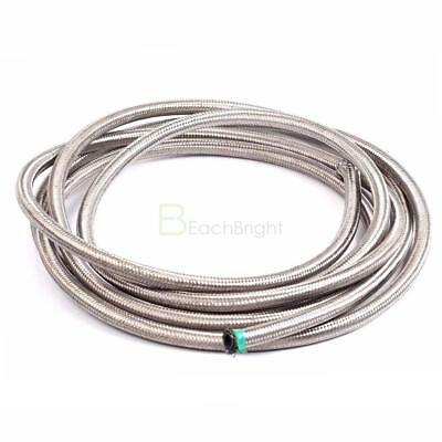 10FT/3M -10AN Stainless Steel Braided Fuel Hose Oil Hose 10Feet -10AN