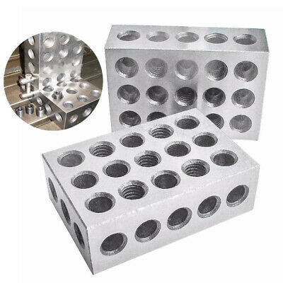 """Steel 1-2-3"""" Blocks 0.0001"""" Precision Matched Machinist 123 Milling Tool 23 Hole"""