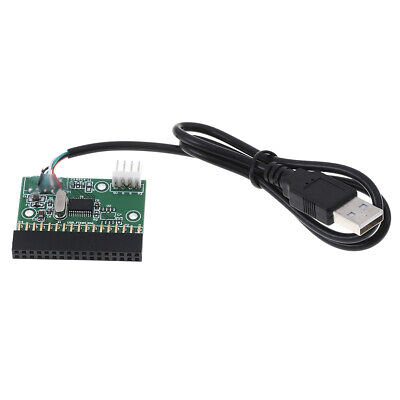"""1.44MB 3.5"""" floppy drive connector 34 PIN 34P to USB cable adapter PCB board J!"""