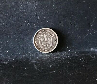 Panama 1904 Dos Y Medio Centisimo silver coin Very Fine and TINY