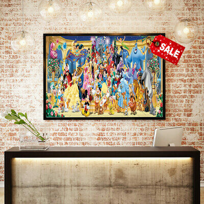 Hd Print Poster Modern Home Wall Decor Puzzles Disney Canvas Art Painting 12x24