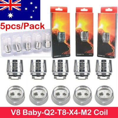 5x Smok TFV8 Baby Coil Head Cloud Beast Replacement for V8 Baby Q2 T8 AU Stock