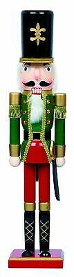 LARGE Traditional Wooden CHRISTMAS NUTCRACKER SOLDIER with Sword Decoration 60cm