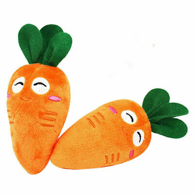 Soft Pet Dog Chew Toy Plush Sound Orange Carrot Squeaker Toys For Puppy Doggy