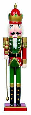 LARGE Traditional Wooden CHRISTMAS NUTCRACKER SOLDIER KING Decoration 60cm