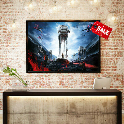 Modern Painting Wall Art Living Room Decorative Print Star Wars on Canvas 16x24