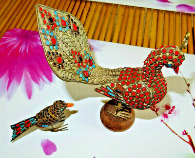 ancien oiseau paon filigranné  asia.??chineese chine,japan wiet indochine perse?
