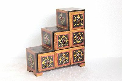 Wooden 6 Drawer Chest New Antique Handpainted Handmade Home Decor W-13