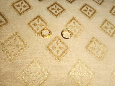 2 x Clock Dial Keyhole Grommets - 10mm - Solid Brass - Faces /Clock Parts/Spares
