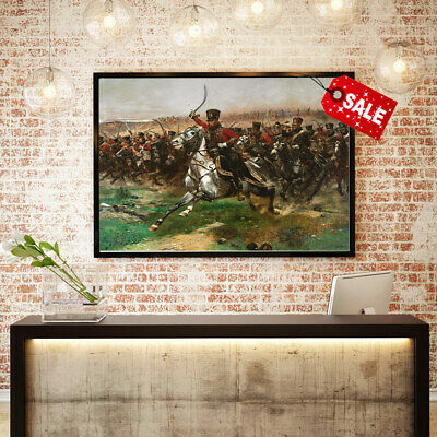 Oil Painting Art Print on Canvas A Napoleonic Hussar.home Wall Decoration 16x20