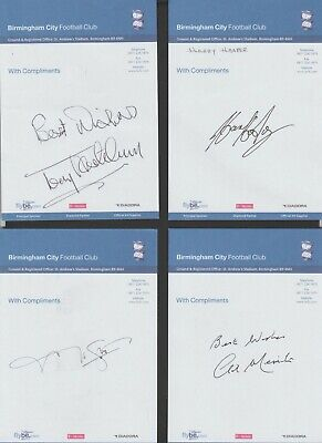 Birmingham City Football Club Compliment Slip signed by GIL MERRICK